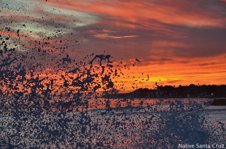 A Splash of a Sunset
